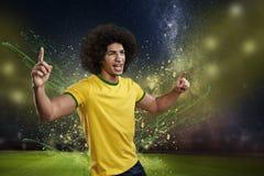 modig fotboll royaltyfri fotografi