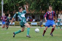 modig fotboll för rakoczi 19 under videoton Arkivfoto