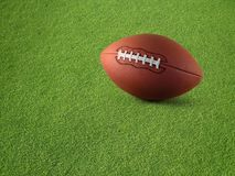 Modig fotboll på gräs arkivfoto