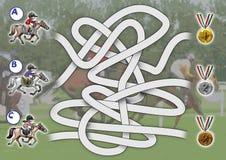 modig hästkapplöpning Arkivbild