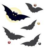 modig halloween för slagträ form Arkivbild