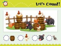 Modig mall för att räkna djur stock illustrationer