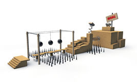 Modig plattform Arkivfoton