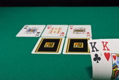 modig poker royaltyfri fotografi
