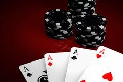 modig poker Arkivfoton