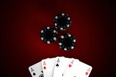 modig poker royaltyfri bild