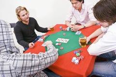 modig poker Fotografering för Bildbyråer