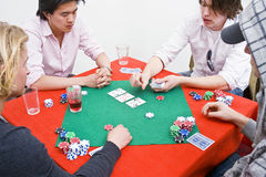 modig poker Royaltyfri Foto