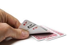 modig poker Royaltyfria Foton