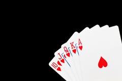 modig poker Royaltyfri Foto