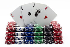 modig poker Arkivbilder