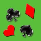 modig poker Arkivbild