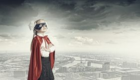 Modig superkid Arkivbilder