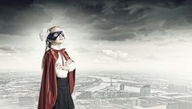 Modig superkid Fotografering för Bildbyråer