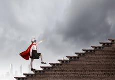 Modig superkid Arkivfoto