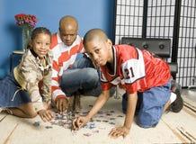modig tid för familj Arkivfoto
