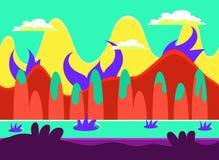 Modig uppsättning för bakgrundsvektorillustration royaltyfri illustrationer
