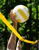 modig volleyboll Arkivfoto