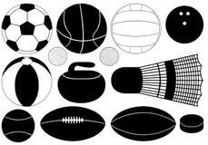 Modiga bollar Stock Illustrationer
