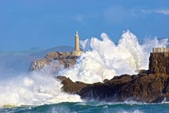 Modiga havsvågor Royaltyfria Bilder