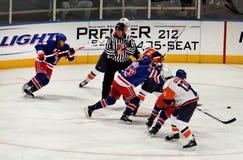 modiga kommandosoldater för hockeyisöbor x Arkivbild