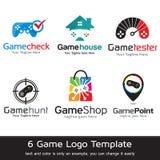 Modiga Logo Template Design Vector Royaltyfri Illustrationer