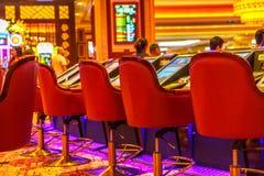 Modiga maskiner för kasino Royaltyfri Foto