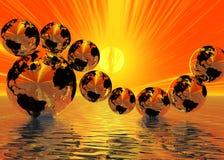 modiga spheres arkivfoton