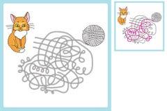 Modigt finna en tråd stock illustrationer