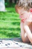 modigt leka för brädepojke Arkivbilder