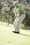 modigt leka för golfman Royaltyfria Bilder