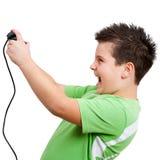 modigt leka för pojkekonsol Royaltyfria Foton