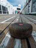 Modigt onboard ett kryssningskepp Arkivbild