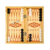 modigt retro för backgammon Fotografering för Bildbyråer