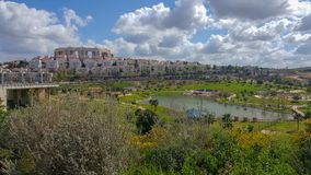Modiin, city in Israel, city of future, Anaba Park. Modiin, city in Israel, city of future, city without wires, Anaba Park royalty free stock photography