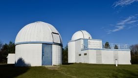 Modiness-Benstead Observatory. This is a late Fall picture of the Modines-Benstead Observatory located in Union Grove, Wisconsin in Racine County. This royalty free stock photos