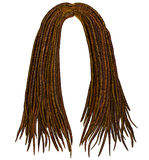 Modische afrikanische lange Haar Dreadlocks Modeschönheitsart vektor abbildung