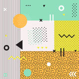 Modische geometrische Elementmemphis-Karten Lizenzfreies Stockbild