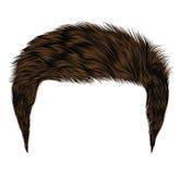 Modische Haare Brunetteschwarzfarben kare Franse Schönheit fashio stock abbildung