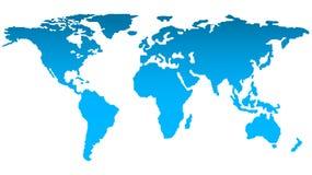 Modische Karte des Weltschattenbildes in der hellen blauen Farbe auf weißem Hintergrund vektor abbildung