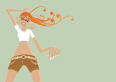 Modische Mädchenabbildung lizenzfreie abbildung