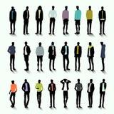 Modische Männer mit langem Schatten Stockbild