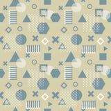 Modische Memphis-Karten Abstraktes nahtloses Muster Modernes abstraktes Designplakat, Abdeckung, Kartendesign lizenzfreie stockfotos