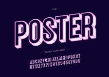Modische mutige Typografie des Gusses 3d des Vektorplakats Lizenzfreie Abbildung