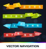 Modische Navigation mit Origami Stockfoto