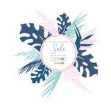 Modische Pastellverkaufs-Fahnen lizenzfreie abbildung
