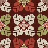 Modische Retrostil-Blumen-nahtloses Vektor-Muster lizenzfreie abbildung