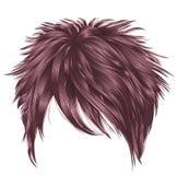 Modische Rosafarben opper  kurze Haare Ñ der Frau Gussnaht lizenzfreie abbildung