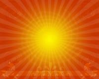 Modische Starburst Hintergrund-Auslegung Stockfoto