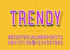 Modische Typografie des Gusses 3d des Vektors Stock Abbildung